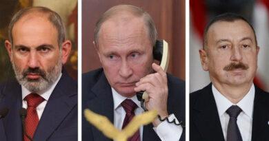 Պուտինը Փաշինյանի և Ալիևի հետ քննարկել Է Բաքու և Երևան ՌԴ պատվիրակության այցի արդյունքները
