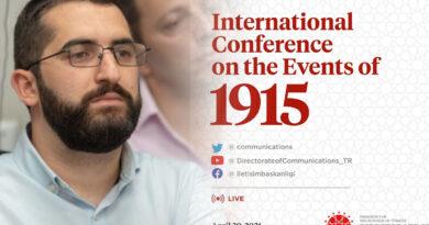 Վաղը՝ ապրիլի 20-ին, Թուրքիայի նախագահի աշխատակազմը կանցկացնի Հայոց ցեղասպանության թեմայով միջազգային գիտաժողով․ Վարուժան Գեղամյան